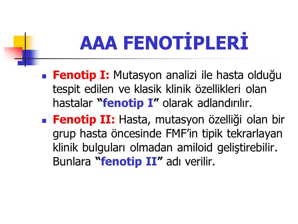 AAA FENOTİPLERİ