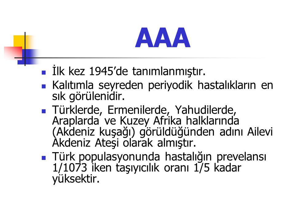 AAA İlk kez 1945'de tanımlanmıştır.