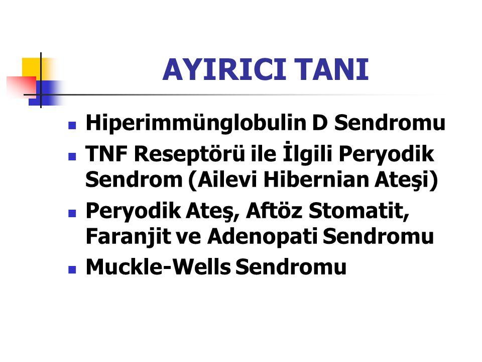AYIRICI TANI Hiperimmünglobulin D Sendromu