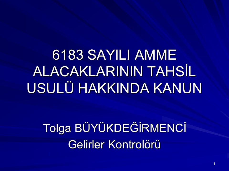 6183 SAYILI AMME ALACAKLARININ TAHSİL USULÜ HAKKINDA KANUN