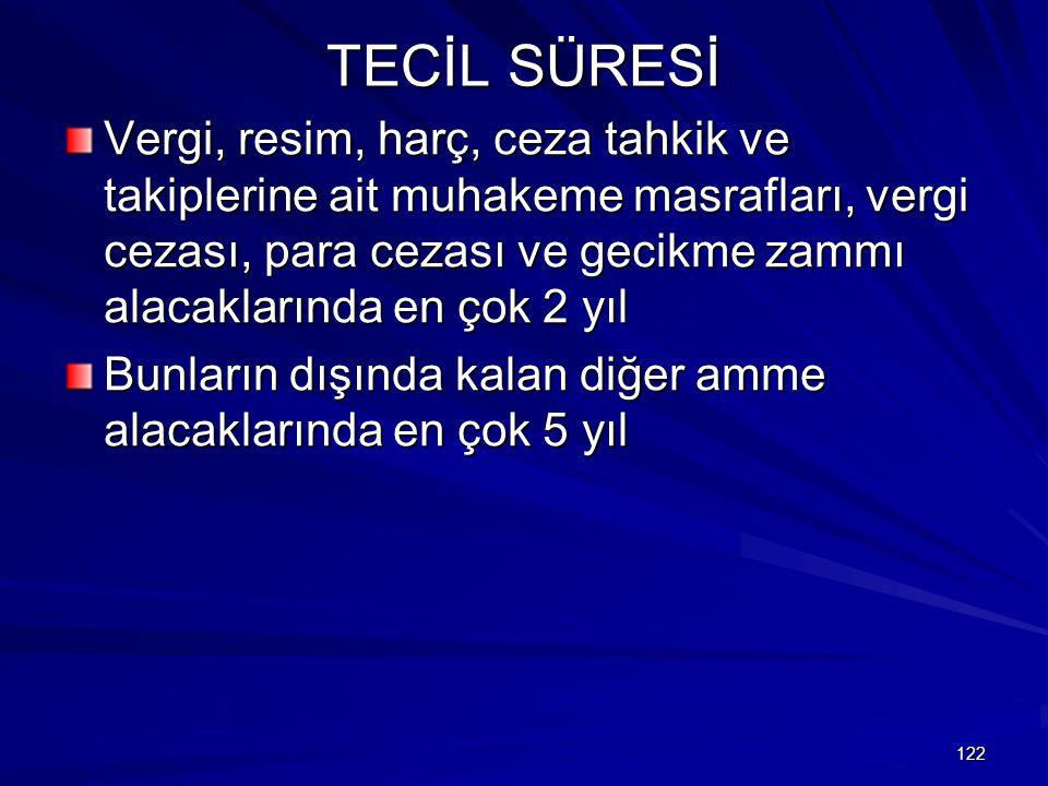 TECİL SÜRESİ