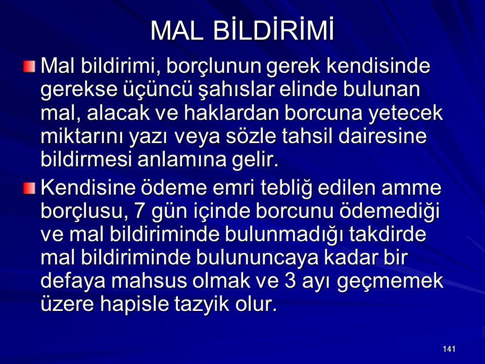 MAL BİLDİRİMİ