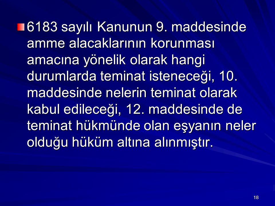 6183 sayılı Kanunun 9.