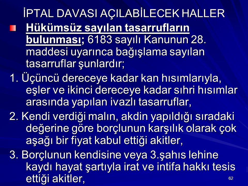 İPTAL DAVASI AÇILABİLECEK HALLER
