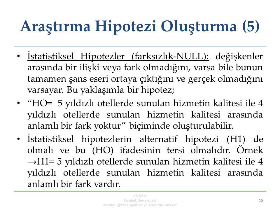 Araştırma Hipotezi Oluşturma (5)