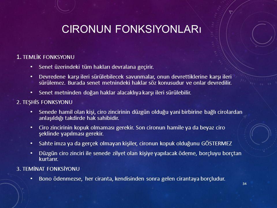 Cironun fonksiyonları