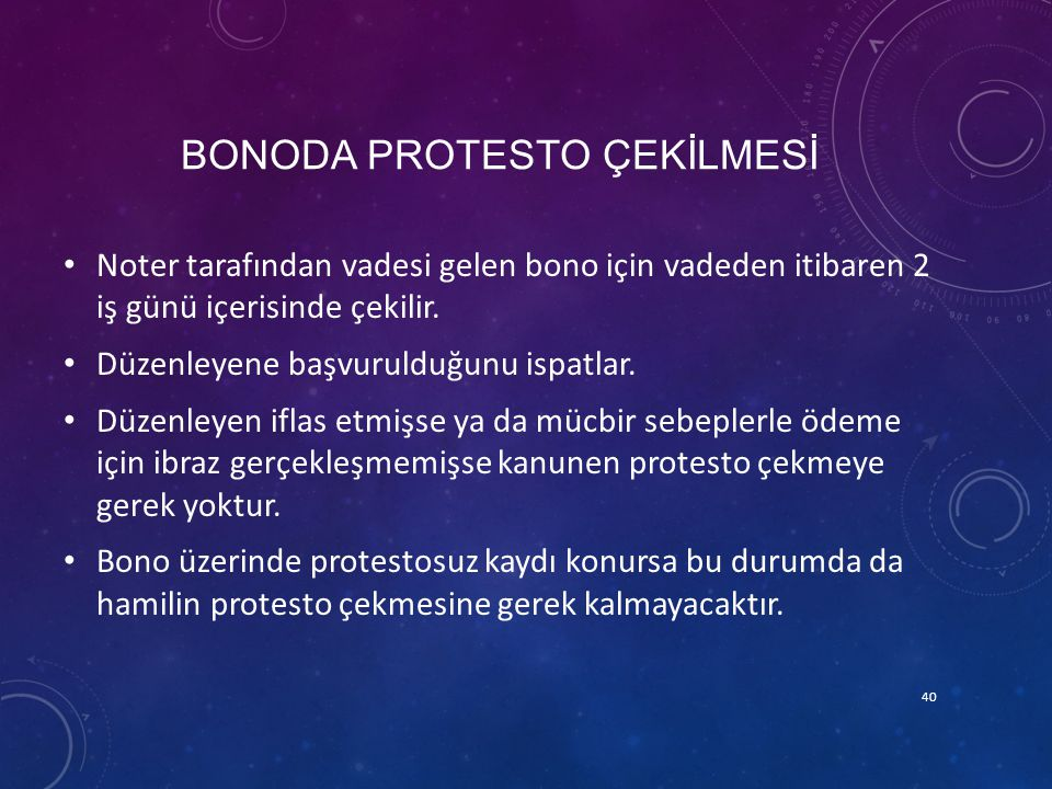 BONODA PROTESTO ÇEKİLMESİ