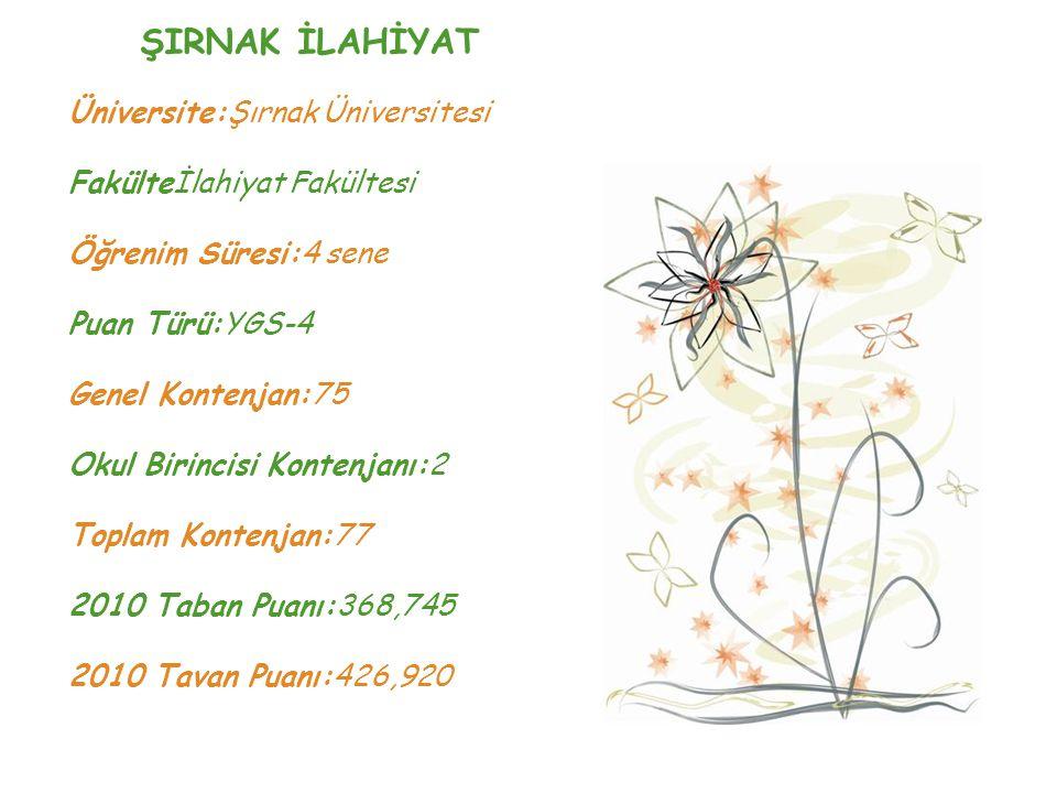 ŞIRNAK İLAHİYAT Üniversite:Şırnak Üniversitesi