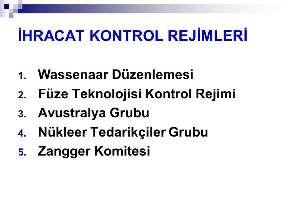 İHRACAT KONTROL REJİMLERİ