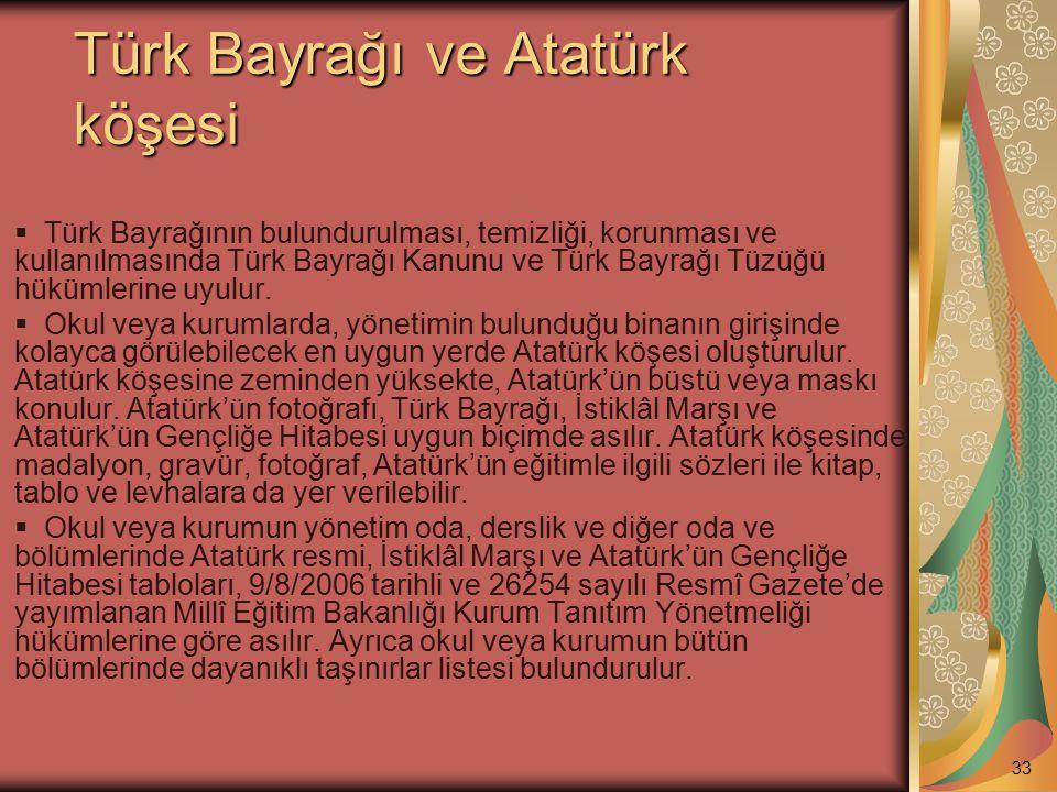 Türk Bayrağı ve Atatürk köşesi