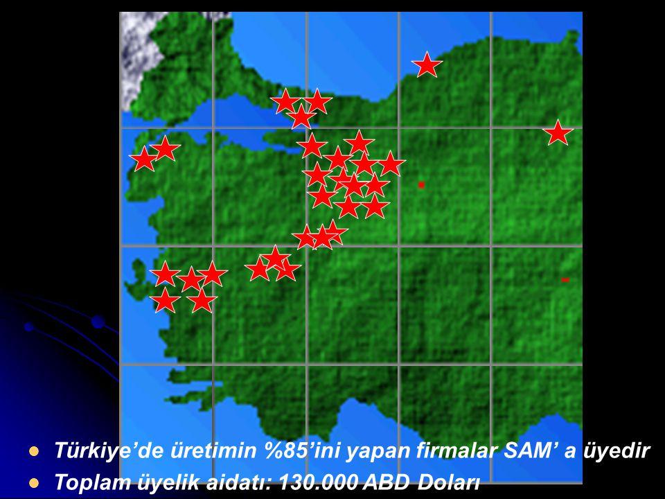 Türkiye'de üretimin %85'ini yapan firmalar SAM' a üyedir