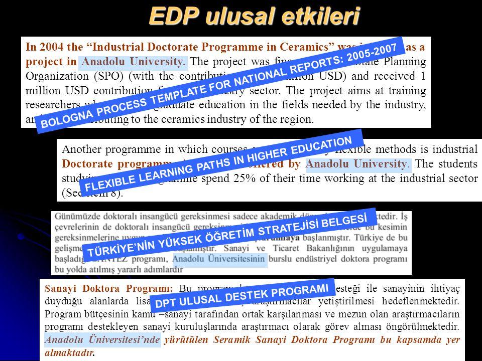 EDP ulusal etkileri