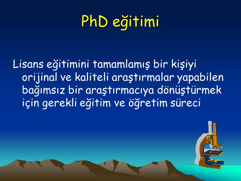 PhD eğitimi