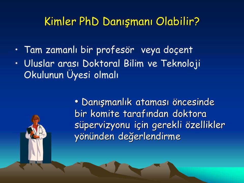Kimler PhD Danışmanı Olabilir