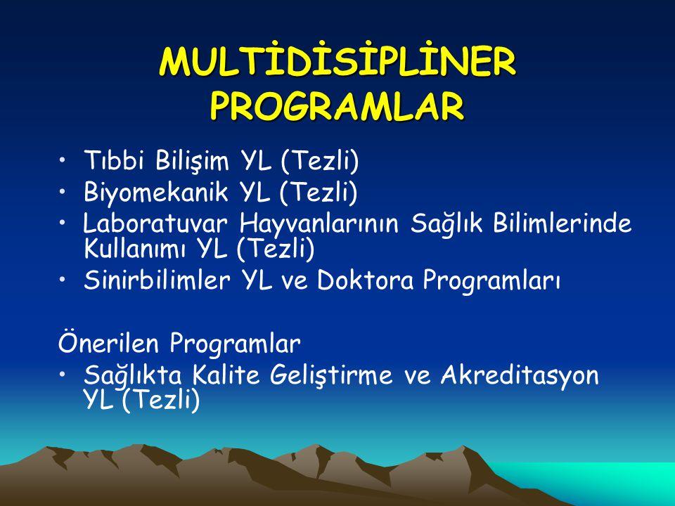 MULTİDİSİPLİNER PROGRAMLAR