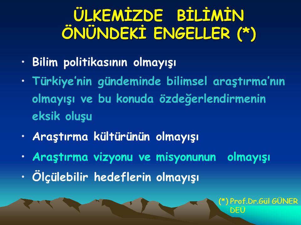 ÜLKEMİZDE BİLİMİN ÖNÜNDEKİ ENGELLER (*)