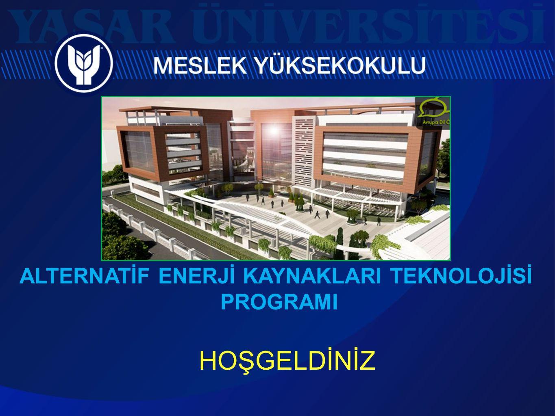 ALTERNATİF ENERJİ KAYNAKLARI TEKNOLOJİSİ