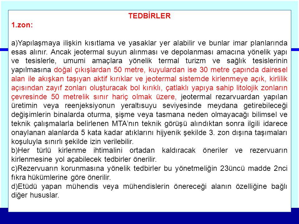 TEDBİRLER zon: