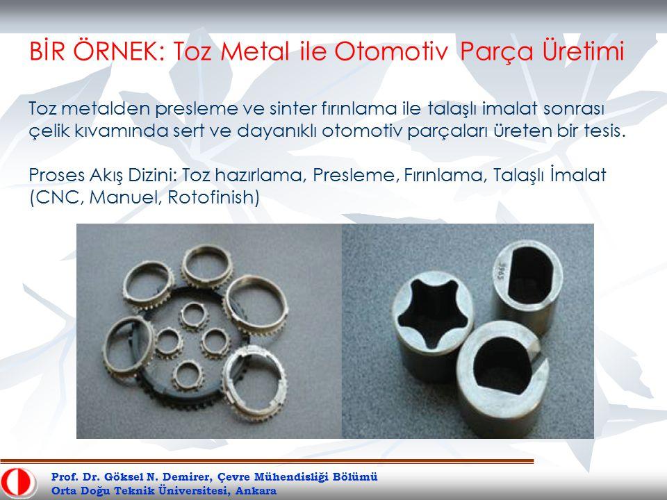 BİR ÖRNEK: Toz Metal ile Otomotiv Parça Üretimi