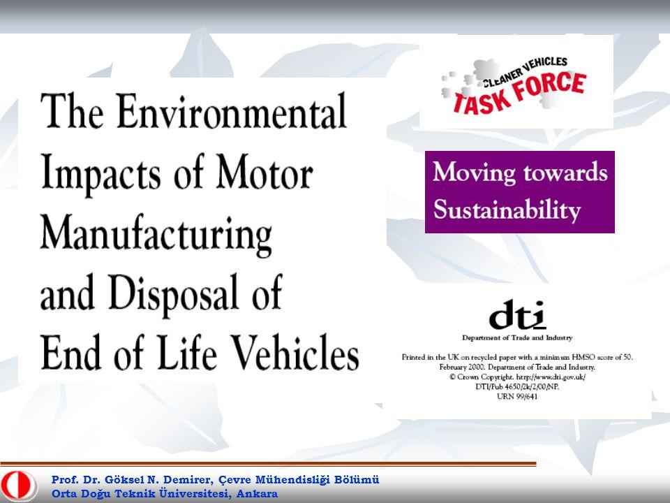 Prof. Dr. Göksel N. Demirer, Çevre Mühendisliği Bölümü