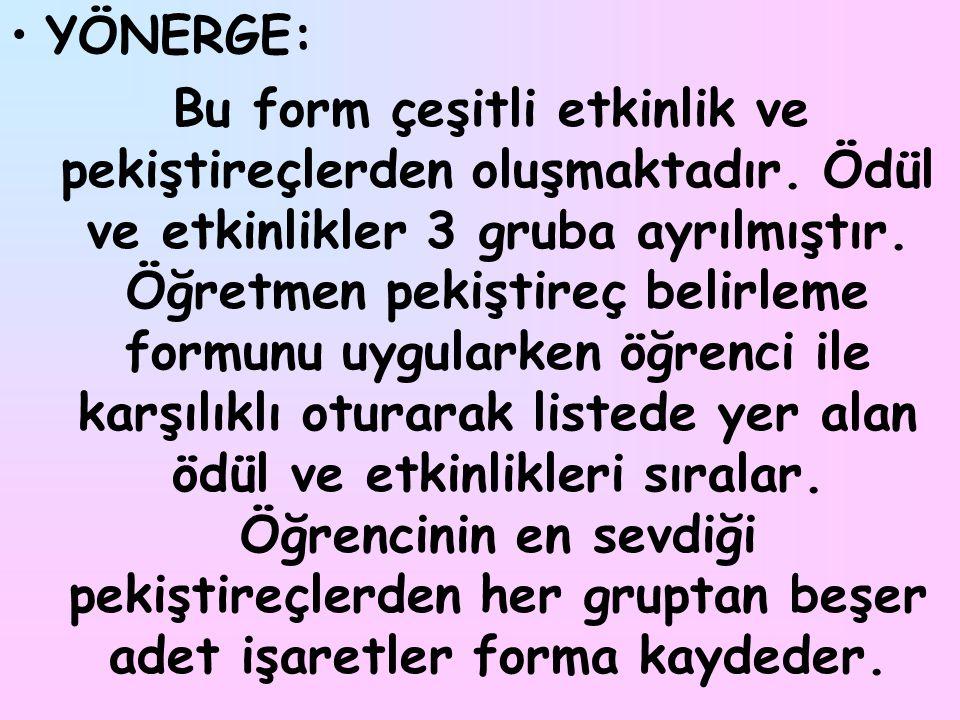 YÖNERGE: