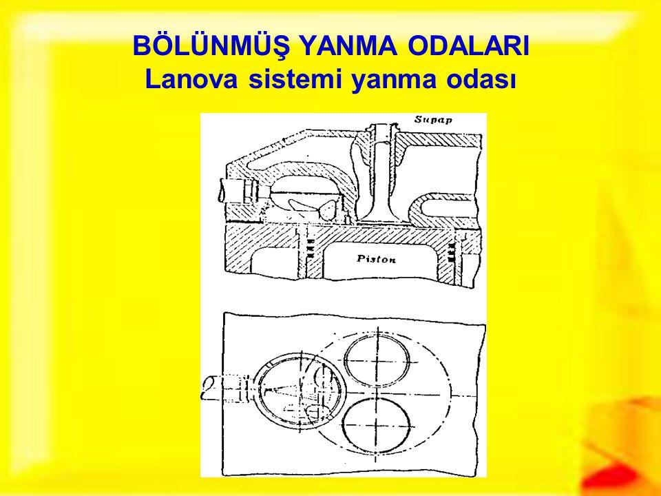 BÖLÜNMÜŞ YANMA ODALARI Lanova sistemi yanma odası