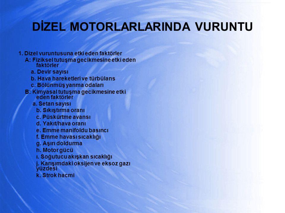 DİZEL MOTORLARLARINDA VURUNTU