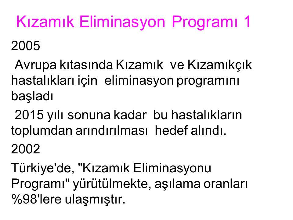 Kızamık Eliminasyon Programı 1