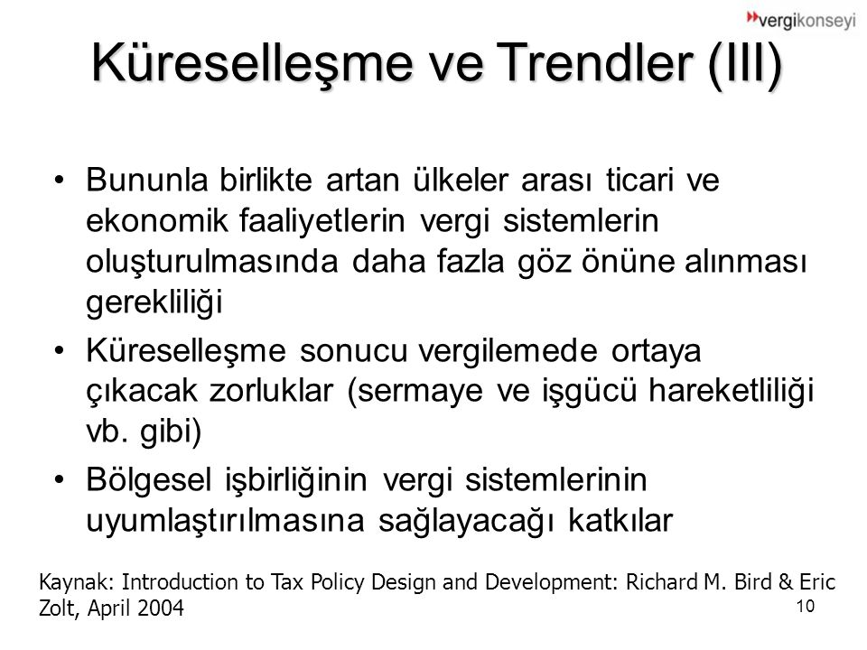 Küreselleşme ve Trendler (III)