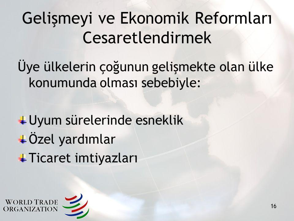 Gelişmeyi ve Ekonomik Reformları Cesaretlendirmek