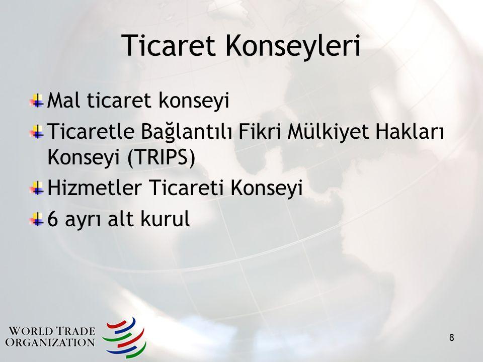 Ticaret Konseyleri Mal ticaret konseyi