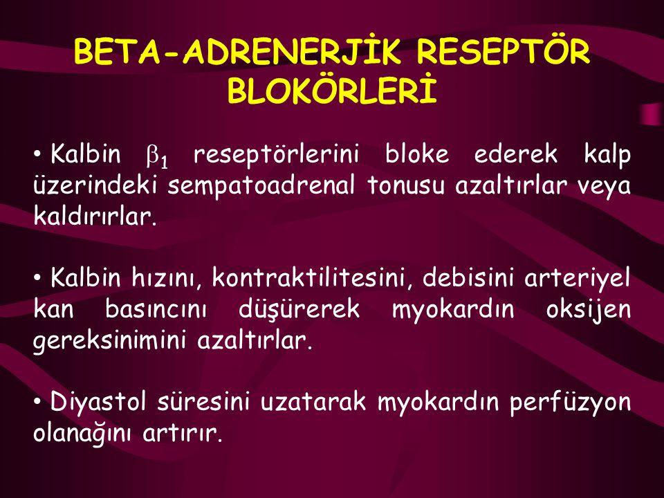 BETA-ADRENERJİK RESEPTÖR BLOKÖRLERİ