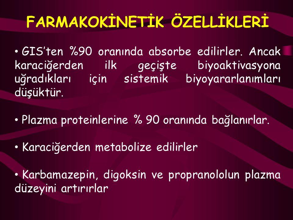 FARMAKOKİNETİK ÖZELLİKLERİ