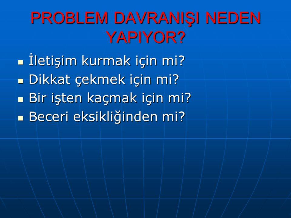 PROBLEM DAVRANIŞI NEDEN YAPIYOR