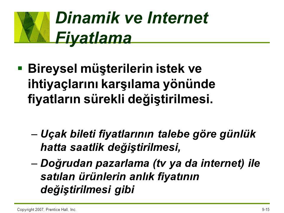 Dinamik ve Internet Fiyatlama