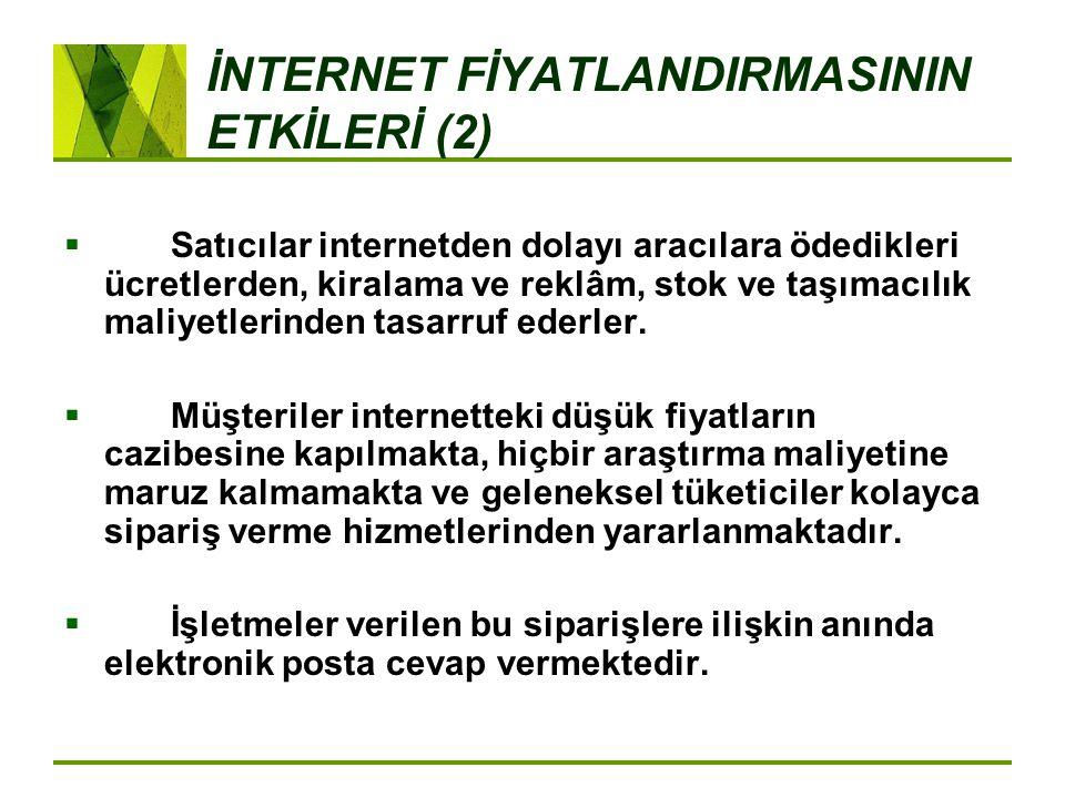 İNTERNET FİYATLANDIRMASININ ETKİLERİ (2)