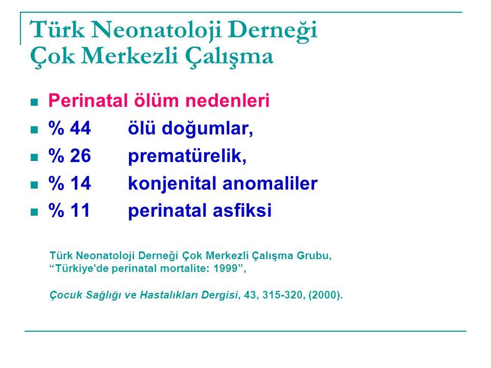 Türk Neonatoloji Derneği Çok Merkezli Çalışma