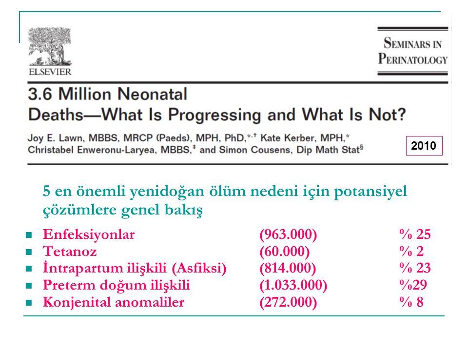 5 en önemli yenidoğan ölüm nedeni için potansiyel çözümlere genel bakış