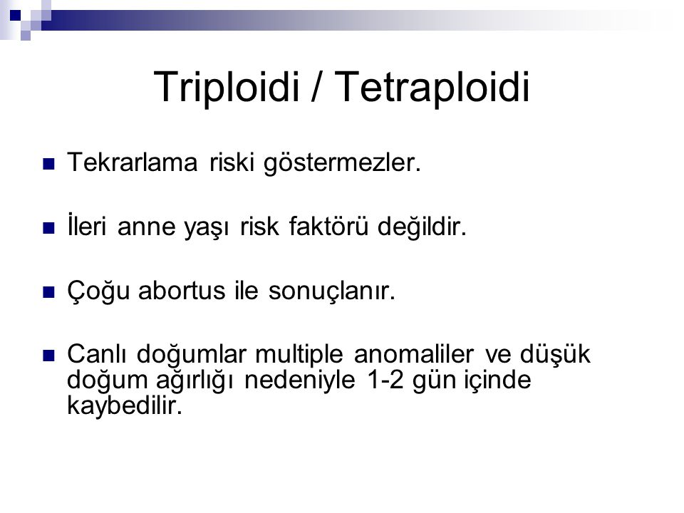 Triploidi / Tetraploidi