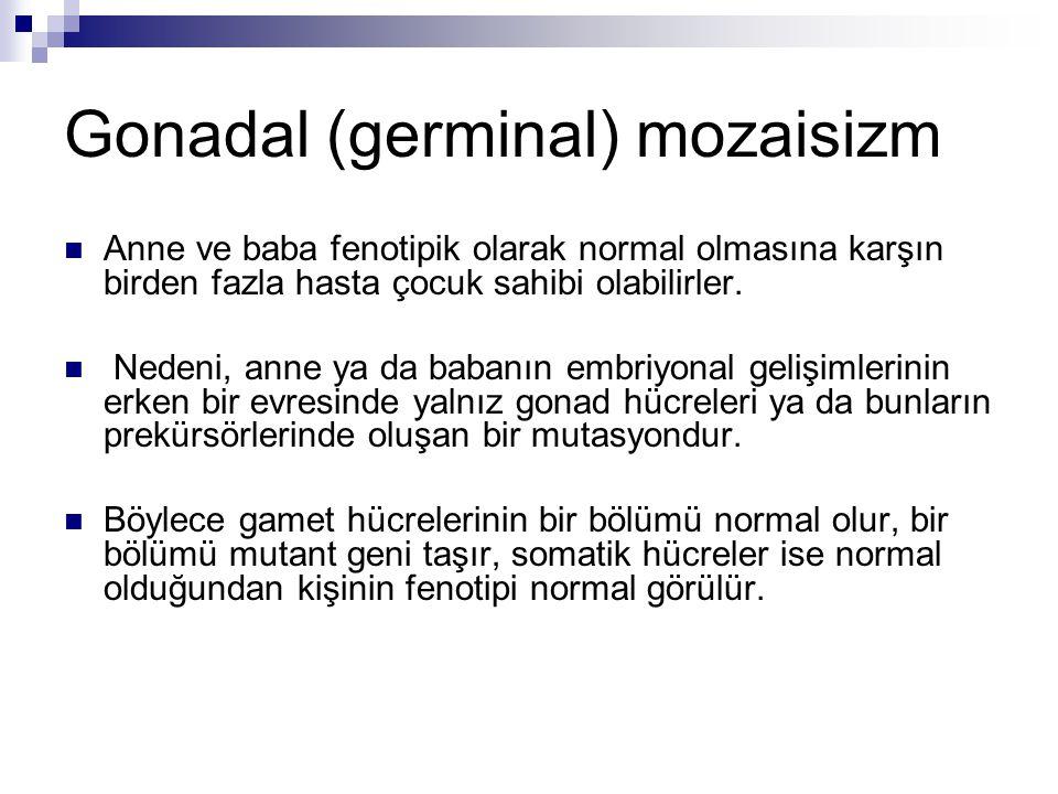 Gonadal (germinal) mozaisizm