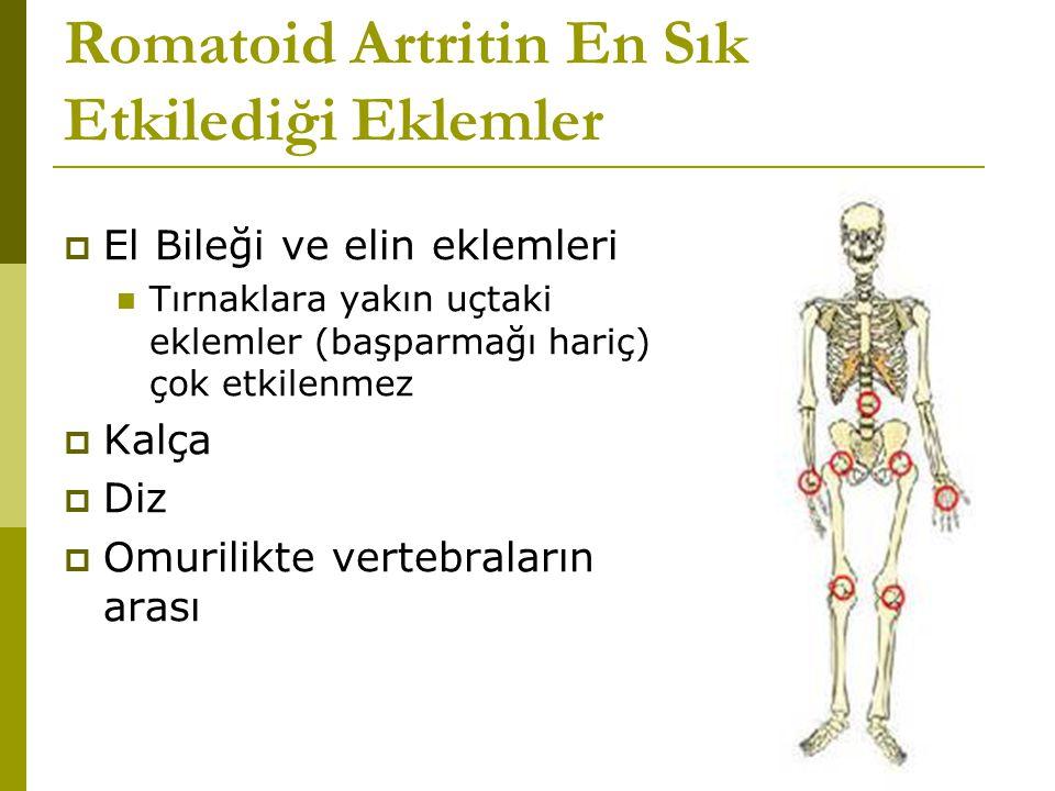 Romatoid Artritin En Sık Etkilediği Eklemler