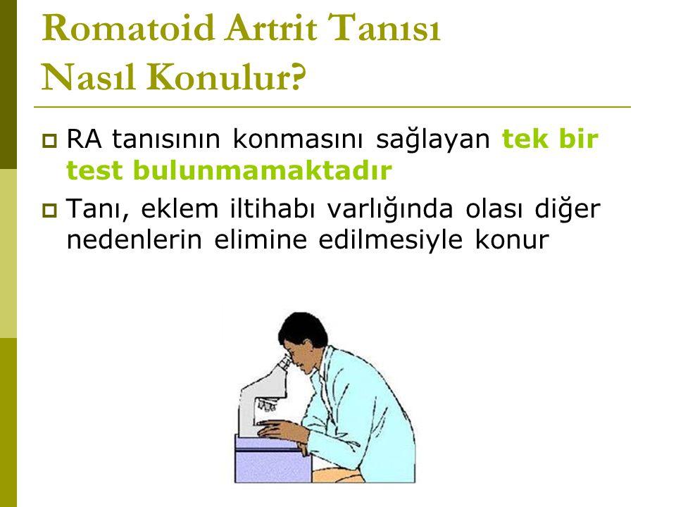 Romatoid Artrit Tanısı Nasıl Konulur