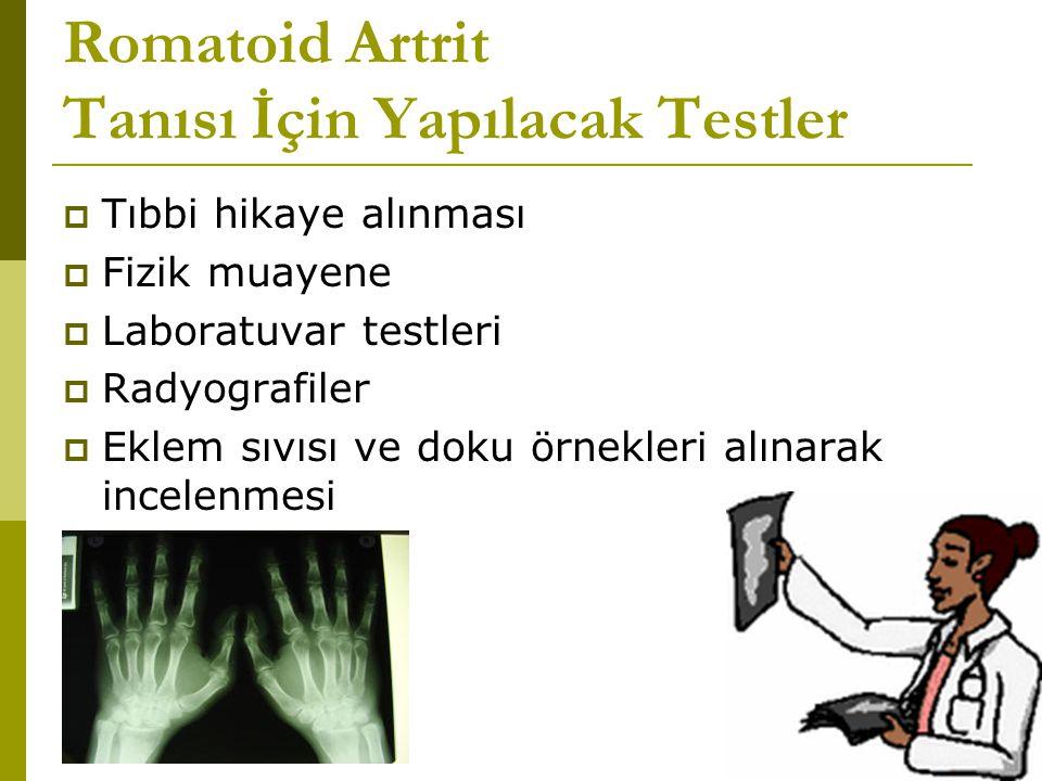Romatoid Artrit Tanısı İçin Yapılacak Testler