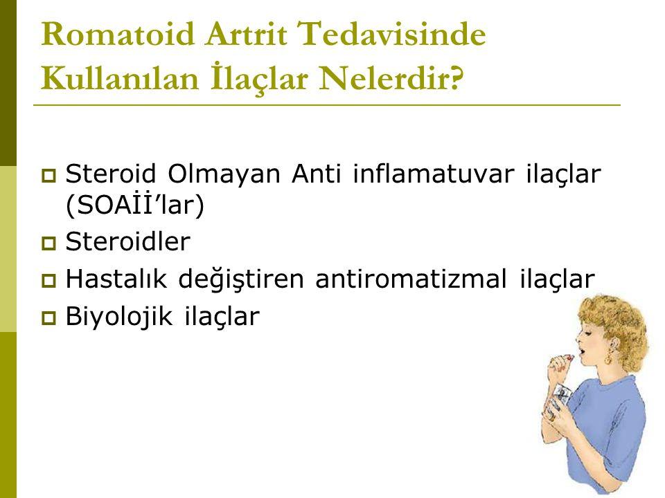 Romatoid Artrit Tedavisinde Kullanılan İlaçlar Nelerdir