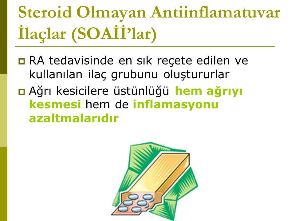 Steroid Olmayan Antiinflamatuvar İlaçlar (SOAİİ'lar)