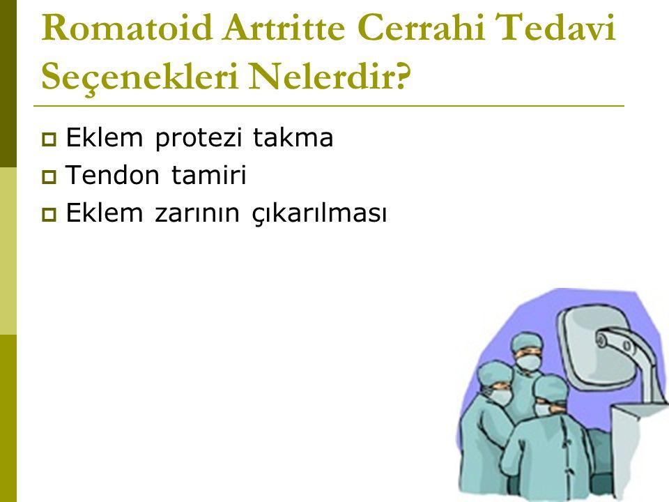 Romatoid Artritte Cerrahi Tedavi Seçenekleri Nelerdir