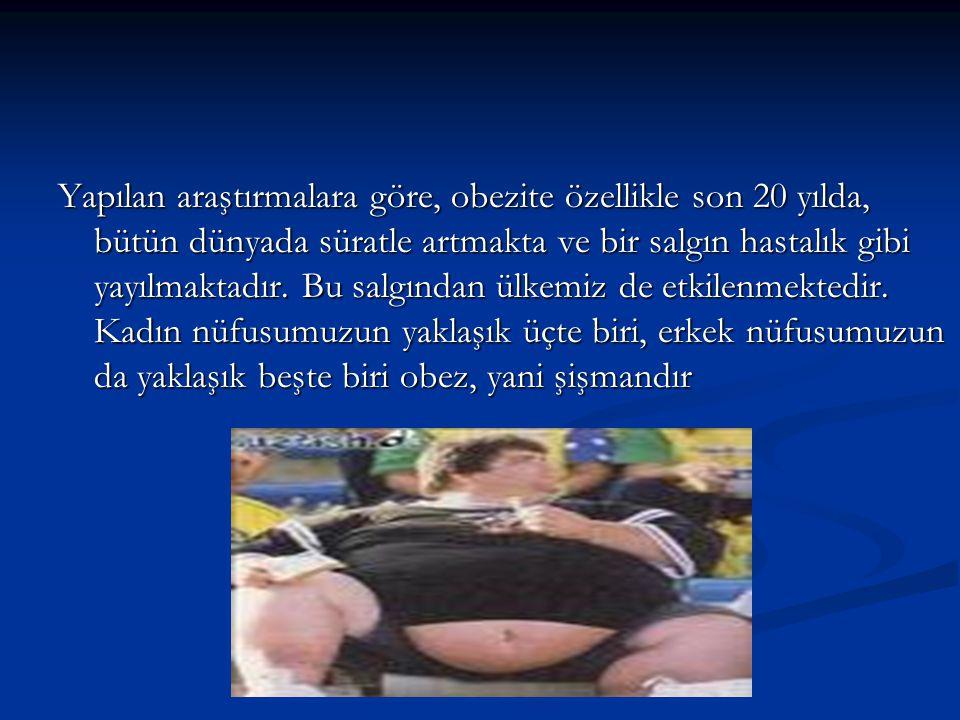 Yapılan araştırmalara göre, obezite özellikle son 20 yılda, bütün dünyada süratle artmakta ve bir salgın hastalık gibi yayılmaktadır.