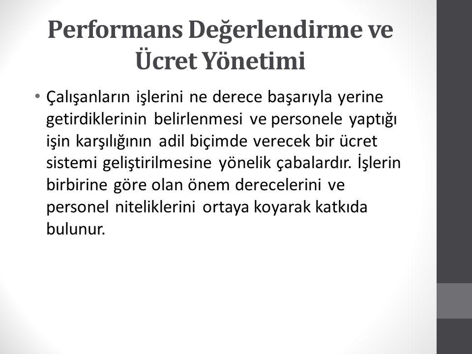 Performans Değerlendirme ve Ücret Yönetimi