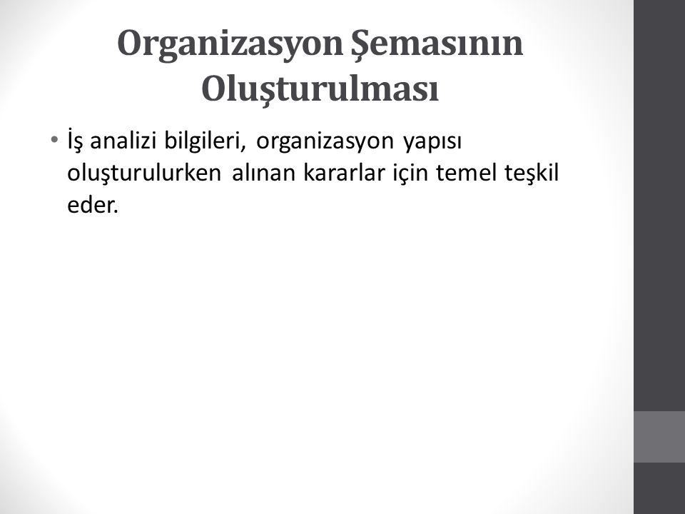 Organizasyon Şemasının Oluşturulması