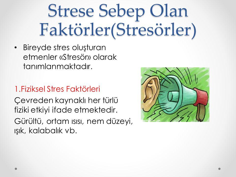 Strese Sebep Olan Faktörler(Stresörler)